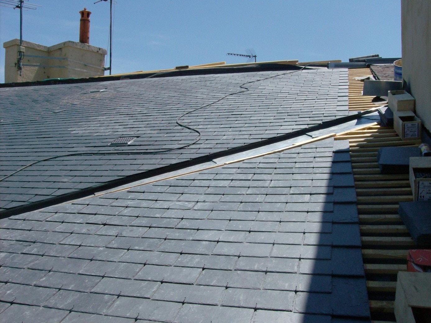 Réparation toiture ardoise